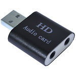 Sound Card Dynamode USB-SOUND7-ALU Black (USB 8 (7.1) каналов)