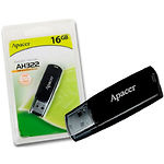 USB Flash 16Gb Apacer AH322 Black AP16GAH322B-1)
