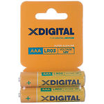 Батарейка X-Digital LR03 Alkaline AAA (LR03 BC2) (2шт/blister)