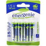 Батарейка EnerGenie EG-LR6-4BL/4 Super Alkaline AA (4шт/blister)