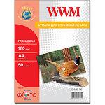 Фотобумага WWM глянцевая, 180г/м2, A4, 50л (G180.50)