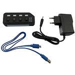 HUB ext USB 3.0 Lapara LA-USB305 black, 4 порта с 4-мя выключателеми ON/OFF для каждого порта cс БП