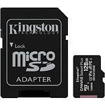 microSD XC 128 GB Kingston Canvas Select Plus А1 Class10 UHS-I (с переходником, SDCS2/128GB)