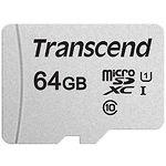 microSD XC 64Gb Transcend 300S UHS-I Class10 U1 (без переходника, TS64GUSD300S)