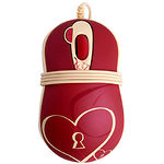 Мышка (A4) G-Cube GOE-6DS (Красная, с сердечком)