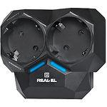 Автореле нагрузки REAL-EL AR-01 black,2*16А,2хРозетки, Заземление, Порог срабатывания 100W