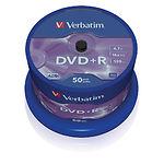 DVD+R Verbatim 4,7Gb 16x Cake 50 pcs Matt Silver (43550)