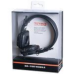 REAL-EL GD-700 Mobile наушники с микрофоном (кожаные) Джек 3,5мм 4pin