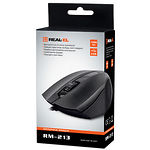 Мышка REAL-EL RM-213 (black) , USB, 1 Wheel, 800cpi