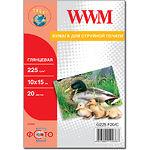 Фотобумага WWM глянцевая, 225г/м2, 100х150 мм, 20л (G225.F20/С)