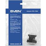 Переходник SVEN BASE DVI-I VGA (015534) DVI папа (сигнал) в VGA мама (устройство)