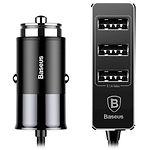 Автомобильное зарядное устройство Baseus CCTON-01 (Black) 4*USB (5.5A)