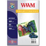 Фотобумага WWM матовая, 180г/м2, А4, 100л (M180.100)