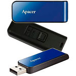 USB Flash 16Gb (Apacer AH334 Blue AP16GAH334U-1)