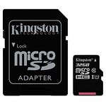 microSD HC 32Gb KINGSTON Canvas Select UHS-I Class10 (с переходником на полный SD, SDCS/32GB)
