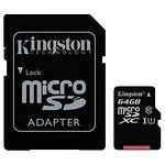microSD XC 64Gb Kingston Canvas Select Class10 UHS-I (c переходником, SDCS/64GB)