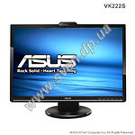 "ASUS 22"" TFT VK222S (black) 2ms,1680x1050,Wide 16:10, 170/160,700:1,300кд/м, Web Cam 1.3M,2x2W - фото"
