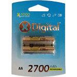 Аккумулятор X-Digital AA/HR6 NiMh 2700 mAh Turbo (HR6 2700 C2) (2шт/blister)