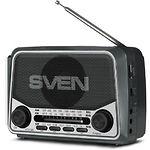 SVEN SRP-525 (grey) портативный радиоприёмник 3Вт, Li-Ion аккумулятор, USB, microSD,FM
