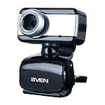 WEB-камера SVEN IC-320web Black, 1.3Mp dinamic/0.35Mp CMOS, USB, микрофон
